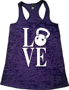 "Women's Workout Fitness Racerback Burnout Tank - ""Kettlebell Love """