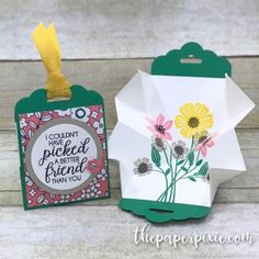 Mini Explosion Tag Card with Facebook Live Video Tutorial - The Paper Pixie