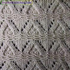 Creeping Line knitting stitches