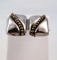 Sterling & Brass Taxco Mexican Clip On Earrings Vintage – Estatebeads