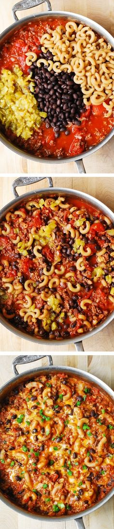 Chili Pasta Skillet - Mexican-style mac and cheese, made completely from scratch! It's so easy – you use just one large skillet and cook everything in it. The clean-up is a breeze! #BHG #sponsored