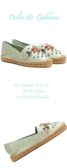 Dolce | Gabbana Crystal Embellished Crystal Espadrilles - Miss Millionairess&Co™