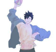 Kuroo Tetsurou Hot, Kuroo Haikyuu, Haikyuu Fanart, Haikyuu Anime, Kenma, Hottest Anime Characters, Manga Characters, Handsome Anime Guys, Cute Anime Guys