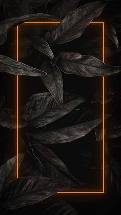 Black Nature Neon - iPhone Wallpapers