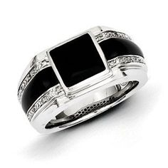 Men's Black Onyx 1/20 Carat Diamond Ring In Sterling Silver Jewelry Christmas 2014 Holiday Jewelry Deals and Sales At Gemologica.com. Xmas Gift guide, Gift Ideas For Him, Gift Ideas For Her, Gift Ideas For Kids. Give the Gift of Fine Jewelry From the Gemologica.com Online Jewelry Store. Unique Gifts, Personalized Gifts, Gift Finder For Men, Women, Children @ GEMOLOGICA.COM