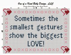 #sometimesthesmallestgesturesshowthebiggestlove #countedcrossstitch #freebie #epattern #love