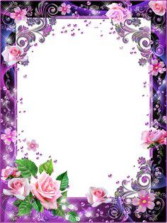 Photo frames - Pink roses in lilac haze Frame Border Design, Page Borders Design, Photo Frame Design, Photo Frame Wallpaper, Framed Wallpaper, 2 Clipart, Frame Clipart, Picture Borders, Boarders And Frames