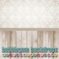 Love this!  Damask Wallpaper - Natural Wood - Bubblegum Backdrops