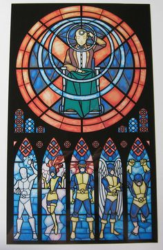 comic book stained glass