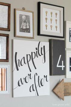Easy DIY home decor idea: Learn how to create a gorgeous script art canvas!
