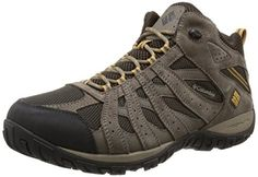 Columbia Mens Redmond Mid Waterproof Wide Hiking Shoe CordovanDark 14 W US >>> Want additional info? Click on the image.