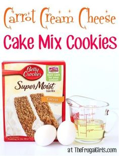 Cake Mix Cookies couldn't be easier, and these delicious Carrot Cream Cheese Cake Mix Cookies won't disappoint! Just a few ingredients and you've got the most delicious cookies... perfect for your ...