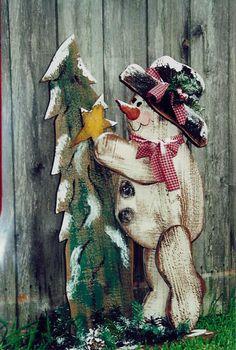 WOOD CRAFT CHRISTMAS SNOWMAN   PATTERN           #WW   105