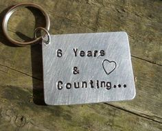 Details about Wedding Anniversary Gift Keyring 6 YEARS & Counting Keychain Iron Bespoke ♡ - Modernes Anniversary Quotes For Husband, Iron Anniversary Gifts, 6th Anniversary Gifts, Wedding Anniversary Quotes, Wife Birthday Quotes, Birthday Gifts For Husband, Romantic Gifts, Inspirational Gifts, 6 Years