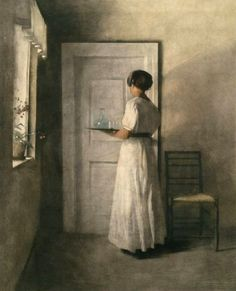 Girl with a Tray ~ Peter Vilhelm Ilsted ~ (Danish: 1861-1933)