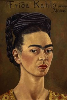 Frida Kahlo, Self-Portrait with Red and Gold Dress, 1941© Gerardo Suter, The Jacques and Natasha Gelman Collection of 20th Century Mexican Art and The Vergel Foundation