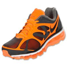 Gotta love the orange that Nike has put to the Air Max The runner has been given a brighter look, as well as the web-like upper that resembles the brand's Free Run series. Nike Air Max 2012, Cheap Nike Air Max, Nike Air Max For Women, Nike Women, Sock Shoes, Men's Shoes, Nike Shoes, Shoes Sport, Lightweight Running Shoes