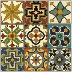 Hand Painted Tiles Atticmag Kitchens, Bathrooms, Interior Design Click the image to read more! Painting Ceramic Tiles, Tile Art, Mosaic Tiles, Painted Tiles, Pottery Painting, Tuile, Vinyl Paper, Style Deco, Decorative Tile