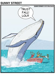 Oh, whale! What a prankster you are!