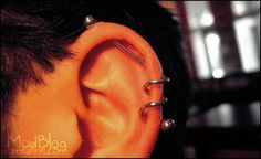 Sin-dustrial Piercing Awesome. Would definitely get one of these.... If my ear was the right shape :-(