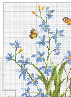 Schale mit blauen Blumen 1