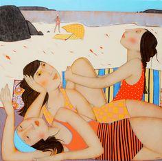 Cécile Veilhan, L'horizon, 80x80 cm (réservé)