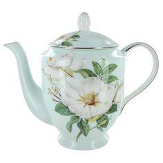 magnolia plate sets | Home / Blue Magnolia Bone China - 4 Cup Teapot