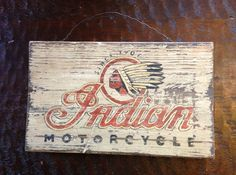 Handpainted Indian Motorcycle wood sign by TheRusticRenegade, $79.00