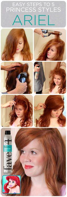 Halloween Hair Tutorials//Disney Princess Styles {Ariel}