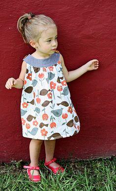 Round Yoke Dress- Vintage Fabric by LBG Studio, via Flickr