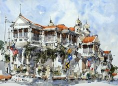 Painting Penang: Kiah Kiean Sketches Landmarks and Daily Life in Exciting Ways