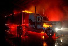 LIKE Progressive Truck Driving School: http://www.facebook.com/cdltruck #trucking #truck #driver   kenworth lighting up the night
