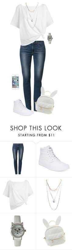 """""""Say What?"""" by sarahlynnmurphy ❤ liked on Polyvore featuring Levi's, Vans, Red Herring, Wet Seal, Olivia Pratt and cutekawaii"""