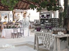 www.kamalion.com.mx - Mesa de Dulces / Candy Bar / Postres / Beach / Playa / Wedding / Boda.
