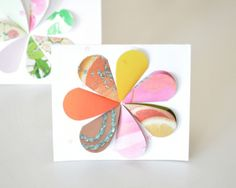 Note cards made from recycled greeting cards
