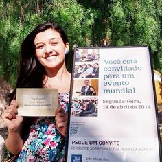 Memorial Invitation Campaign in Brazil  -- More at JW.org -- Photo shared by @luizepri2014