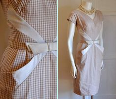 """Diagonal pockets worked into the overall """"x"""" motif of the bodice, which gives an illusion of an hourglass shape. The cream trim does not extend the full length of the pocket edge, only about halfway, so as not to overemphasize the hip area."""