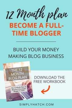 Enter your name and email address to download this FREE 12 month blog plan to become a full-time blogger. Follow my exact steps to go from zero to a full-time income. Find out how to build your money making blog income and get your how to start a blog ideas! Make Blog, How To Start A Blog, Make Money Blogging, How To Make Money, Earn Money, Blog Planning, Home Based Business, Business Tips, Online Business