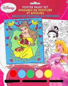 Disney Princess Paint Set by Disney. $3.95. Everything you need to paint 2 posters of the disney princesses!. Great gift for any little Disney Princess fan!. Poster paint set featuring the Disney Princesses!. Set includes 2 posters (8 x 10 inches). 6 water based poster paints. 1 paint brush.. Poster paint set featuring the Disney Princesses! Everything you need to paint 2 posters of the Disney Princesses!  Set includes 2 posters (8 x 10 inches). 6 water based ...