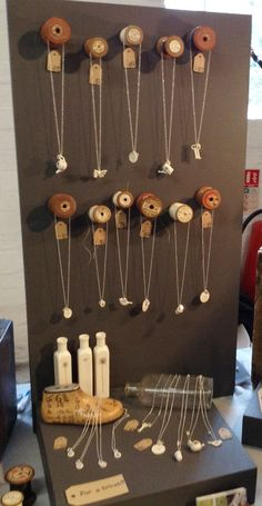 My new jewellery display at Festival of Crafts in Farnham Maltings Cotton Reel heaven www.boopdesign.com #jewellerydisplay