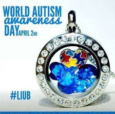 Light it up blue for Autism Awareness!  www.sandygale.origamiowl.com