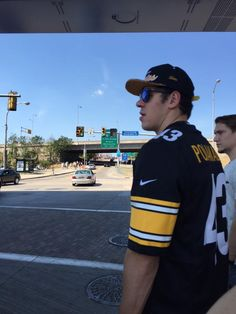 Evgeni Malkin sporting his Steelers jersey prior to a 24-19 win versus the Green Bay Packers.