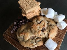 S'mores Cookies Perfect Chocolate Chip Cookies, Chocolate Filling, Chocolate Lovers, Baking Sheet, Baking Soda, Edible Magazine, Smores Cookies, Dough Balls, Salted Butter