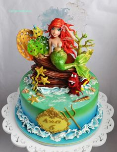 Ariel and the Waterworld Cake by Carmen Iordache