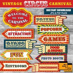 printable carnival signs
