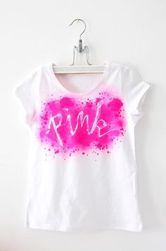 miss red fox: 12giftswithlove - 04 - Heißkleber T-Shirt - Pink - DIY Hot Glue Shirt