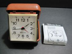 Wesclox Wind Up Travel Alarm Clock in Compact Case Retro style  #vintage @wesclox #travelclock #windupclock #clock #alarmclock #travelalarmclock #collectible