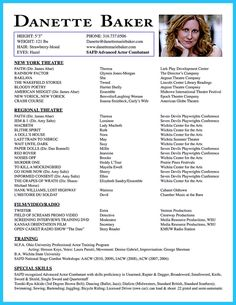 Acting Resume Sample Free  HttpWwwResumecareerInfoActing