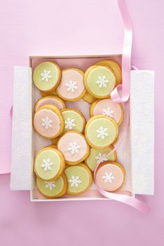 Marzipan-covered cookies (Ideas magazine). Nice change from fondant and royal icing.