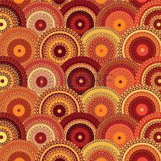 Maroccan mandalas red